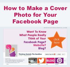 How to Make a Cover Photo for Your Facebook Page. Easy tutorial.
