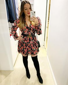 Date night florals #fashion #ootd #ootdfashion #ootdfashion #ootdstyle #ootdinspo #affordablefashion #affordablestyle #affordable #dress #boots #pretty #floral #style #ggbelt #gucci #guccibelt #designer #brunette #brunettebalayage #makeup #blogger #mum #mumstyle #momsofinstagram #momstyle #datenight #parenthood #goodnightmacaroon #boohoo #linkinbio 11 Year Anniversary, Gg Belt, Balayage Brunette, Mom Style, Ootd Fashion, Ruffle Dress, Affordable Fashion, Wardrobe Staples, Boohoo