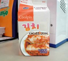 Yum ...Coolpis Kimchee Drink ....from The Top Ten Weird and Bizarre Japanese Soft Drinks