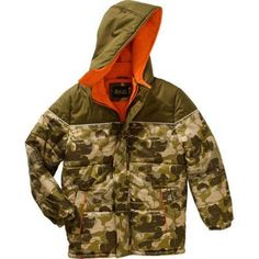 iXtreme Boys Puffer Jacket, Available in 4 Designs 11 Colors, Boy's, Size: 6, Green