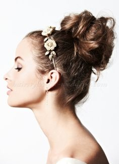 high bun hairstyle for brides