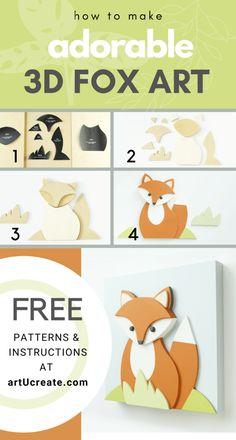 Wood Animal, Animal Decor, Woodland Nursery Decor, Baby Deer, Wood Patterns, Animal Nursery, Stuffed Animal Patterns, Woodland Animals, Printable Wall Art