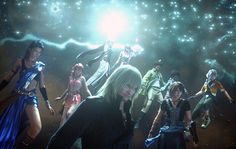 Lightning Farron,Serah Farron,Oerba Yun Fang,Oerba Dia Vanille,Snow Villiers,Sazh Katzroy,Dajh Katzroy,Noel Kreiss & Hope Estheim From Lightning Returns Final Fantasy XIII
