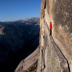 Photo by @jimmy_chin Good to know Yosemite is back open and allowing climbers to return to their natural habitat. Here @alexhonnold looks out over the void up high on Half Dome. This was shot on a @natgeo assignment about the climbing culture and cutting edge of climbing in Yosemite Valley, the epicenter of big wall climbing. It also made the cover of the May 2011 issue of the magazine. @thephotosociety @camp4collective