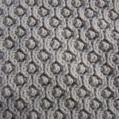 Beautiful texture in this pattern.  Assemblage by Norah Gaughan, (Ravelry)  cardigan pattern with this embossed honeycomb stitch.