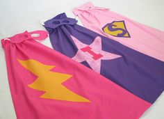 DIY capes for girls..cute! Because every girl should be a super hero too!