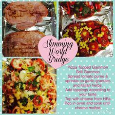 Syn free when using your HeA. Syn Free, Melted Cheese, Slimming World, Healthy Recipes, Healthy Food, Grilling, Oven, Pizza, Cooking