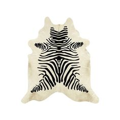 Ballard Designs Natural Cowhide Rug - Stenciled Black and White Zebra (3.160 BRL) ❤ liked on Polyvore featuring home, rugs, black and white pattern rug, black white rug, patterned area rugs, coloured rug and ballard designs rugs