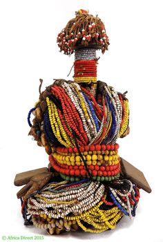 Fali Beaded Fertility Doll Cowrie Shells Cameroon Africa | eBay