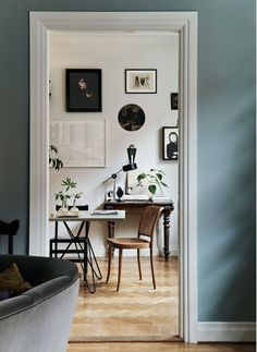 my scandinavian home: A Swedish Home In Soothing Shades of Blue and Green