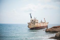 Shipwreck off the coast of Paphos in Cyprus
