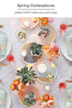 These Oh Joy! for Target appetizer plates-turned-tabletop display will make you want to throw a dinner party ASAP. The small plates' graphic colors and hints of glam are the perfect place to set votive candles or natural elements, like succulents. Mix in a string of firefly lights and create an ambience that's fresh, cheerful and festive.