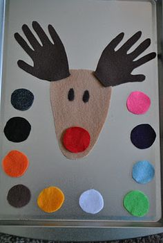 Practice colors with this felt Rudolph craft.