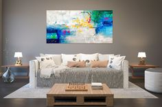 Items similar to Large Modern Wall Art Painting,Large Abstract wall art,texture art painting,abstract originals,bathroom wall art on Etsy Office Wall Art, Home Decor Wall Art, Bedroom Decor, Large Abstract Wall Art, Painting Abstract, Painting Art, Large Painting, Knife Painting, Oversized Canvas Art