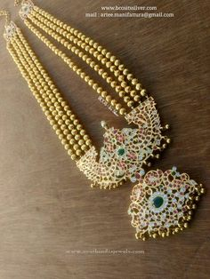 Gold Plated Silver Long Haram, Silver Antique Jewellery Designs, Silver Plated Antique Jewellery Designs.