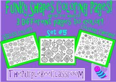 Coloring Pages Funky Shapes Coloring Pages Set 53 different fun pages to colorGreat stress relief for adults and older children!Funky and Fun Coloring Pages!Be creative and have fun with color!You may print as many of these as you would like for personal/classroom use!Thanks for looking, and have a great day!