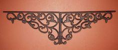 "6 Pcs Large Cast Iron Shelf Brackets 12 1 4"" Vintage Look Elegant Design B 14 | eBay"