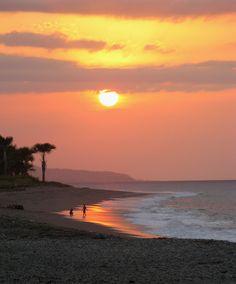 beautiful sunset.  Dili, Timor Leste