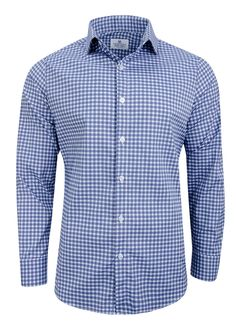 """""""Howe"""" Red, White and Blue Check Dress Shirt"""