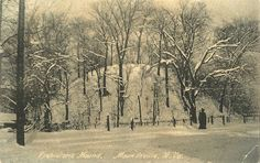 Grave Creek Mound in Moundsville, WV (early 1900's).  Grew up 2 blocks away (no, not in the 1900s!)