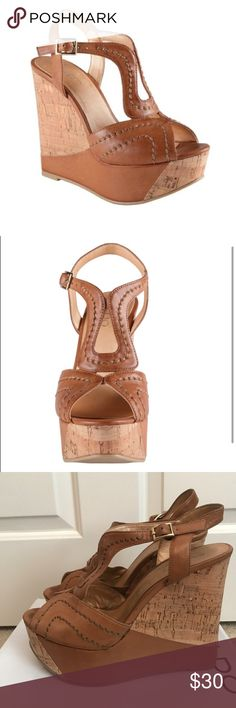 9cf02326bf57 ALDO Fusilier Wedges High heel in.) Look trendy and chic on a daily basis  with these cork-like wedge sandals. I accept all reasonable offers.