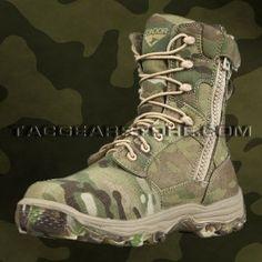 """CONDOR > Tactical """"Elite 8"""" Boot  Side Zipper - Multicam."""