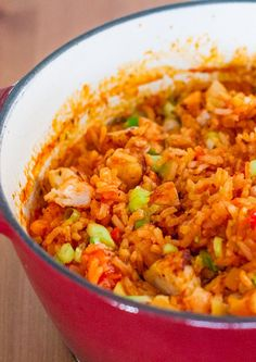 Chicken and Shrimp Jambalaya – a healthier jambalaya that is so delicious it will keep you wanting for more.