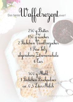 Rezept: Das beste Waffelrezept ever! - Rezept: Das beste Waffelrezept ever! Rezept: Das beste Waffelrezept ever Best Waffle Recipe, Waffle Recipes, Brunch Recipes, Sweet Recipes, Baking Recipes, Dessert Recipes, Bread Recipes, Easy Recipes, Chicken Recipes