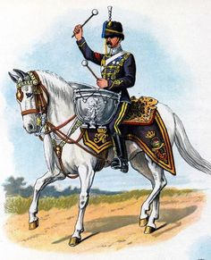 British; 3rd(King's Own) Hussars, Kettle Drummer, c.1910