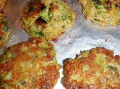 Can you say SCRUMPTIOUS?  This recipe comes from SkinnyTownUSA (look for them on Facebook).  These patties were so easy to make, are healthy because they are baked not fried, and clean-up is a snap.  I've made them several times and have even added cauliflower and shredded zucchini.  They are just as yummy cold as they are hot, on top of that, they make a quick and easy snack.
