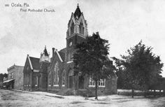 First Methodist Church and other buildings - Ocala, Florida. Ocala Florida, Marion County, Buildings, Waiting, History, Image, Home, Historia