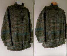 VTG Blogger STOWS OF SOWERBY Blanket Jacket Coat Women Boyfriend Oversized Men L 11.00