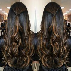 """1,503 curtidas, 59 comentários - GloriaStudioliss (@gloriastudioliss) no Instagram: """"Boa noite!! Morena iluminada em tons canela e avelã, lindo hair da Marjory.... .…"""""""