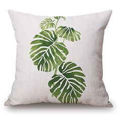 Pillows 3D Painting Tropical Plant Banana Leaf Chair Cush...…