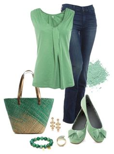 """Seafoam Green"" by katherine-carroll ❤ liked on Polyvore featuring Kelly & Katie, 7 For All Mankind, Kin by John Lewis, BC Footwear, Coach, GUESS and Kenneth Jay Lane"