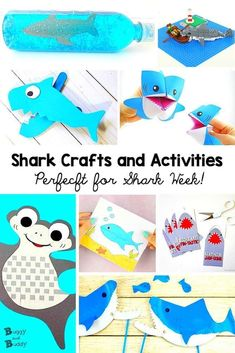 Shark crafts and activities