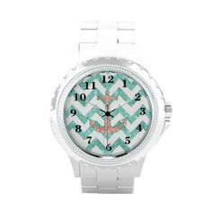 >>>Best          Coral Glitter Nautical Anchor Teal Chevron Zigzags Watches           Coral Glitter Nautical Anchor Teal Chevron Zigzags Watches lowest price for you. In addition you can compare price with another store and read helpful reviews. BuyDeals          Coral Glitter Nautical Anch...Cleck Hot Deals >>> http://www.zazzle.com/coral_glitter_nautical_anchor_teal_chevron_zigzags_watch-256414177695038230?rf=238627982471231924&zbar=1&tc=terrest