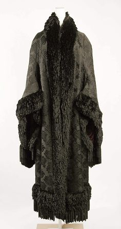 ~Cloak  Emile Pingat  (French, active 1860–96)  Date: 1879–80 Culture: French Medium: silk~