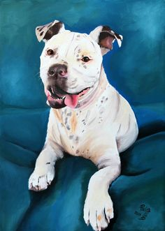 Dog portrait hand painted pet painting on a 8x12 by PerlillaPets