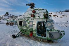 plane cemetery, in the Republic of Sakha/Yakutiya on the Chukchi Peninsula