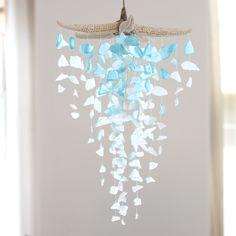 Sea Glass & Starfish Mobile - Grand Ombre