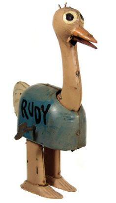 1924 Barney Google Rudy the Ostrich tin wind-up, Germany