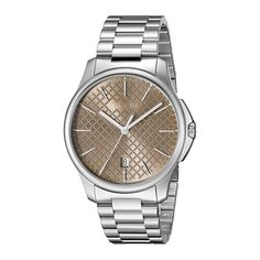 1246eaf6446 Gucci YA126317 Mens G TIMELESS Silver Tone Quartz Watch