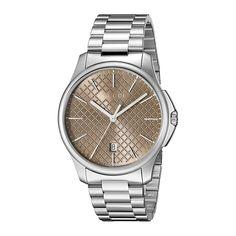 e785ae225ac Gucci YA126317 Mens G TIMELESS Silver Tone Quartz Watch
