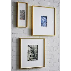 gallery 8x10 brass picture frame in frames cb2