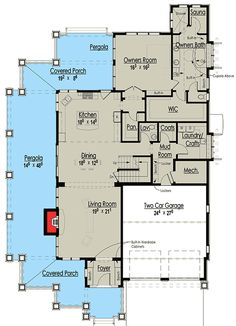 Plan Gorgeous Shingle-Style Home Plan – 2019 - Architecture Decor The Plan, How To Plan, Plan Plan, Dream House Plans, House Floor Plans, My Dream Home, Porch And Foyer, Shingle Style Homes, House Layouts