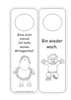 Türschilder Kinderzimmer Vorlagen | Türschilder ausmalen | Ausmalbilder ::