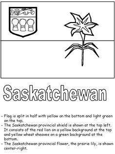 Saskatchewan coloring pages Canada For Kids, All About Canada, Social Studies Projects, Social Studies Lesson Plans, Coloring Sheets, Colouring, Coloring Pages, Geography Lessons, Esl Resources