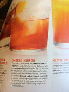 Smoked negroni - food network summer 2016