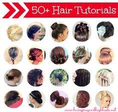 50+ Hair Tutorials #hair #hairstyles #beauty via hairsprayandhighheels.net
